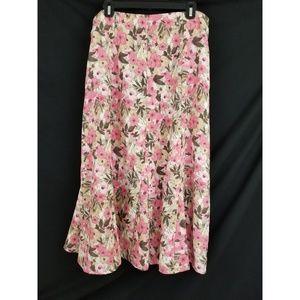 Christopher & Banks Size 12 Floral Skirt Long